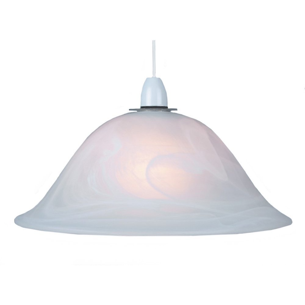 Pendant Floor Lamp: White Alabaster Glass Easy Fit Pendant Shade Or Floor Lamp