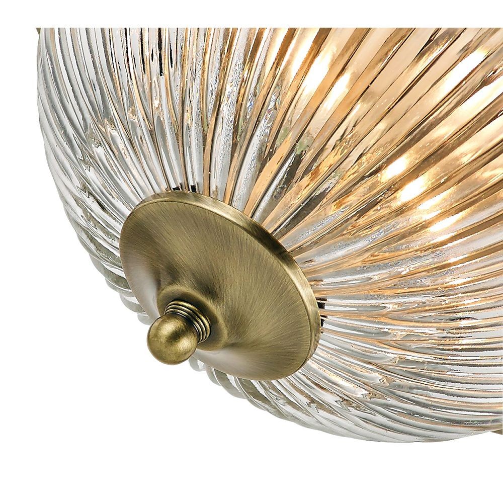 Traditional Antique Brass IP44 Bathroom Ceiling Light ...
