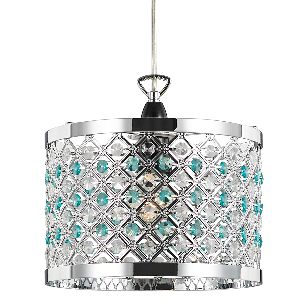 Ceiling Light Teal: Modern Sparkly Ceiling Pendant Light Shade With Clear And
