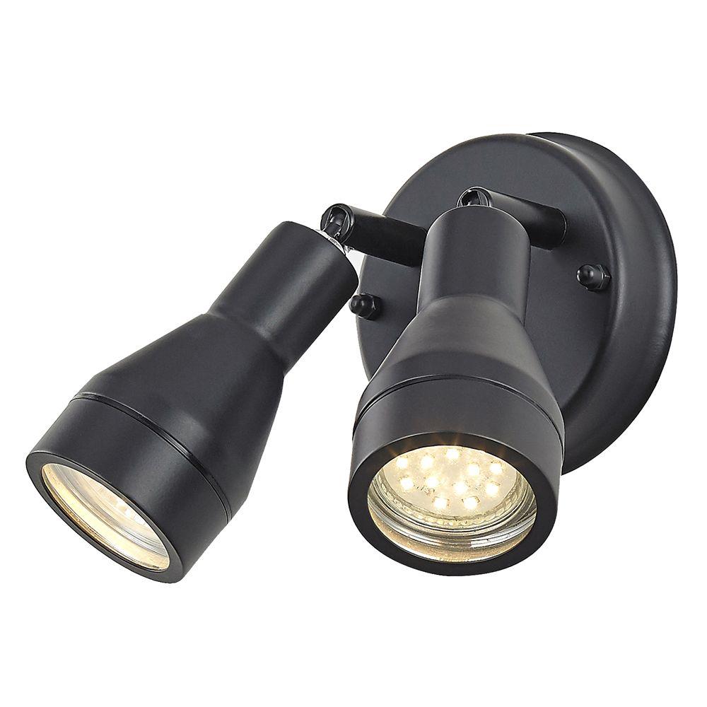 Outdoor IP44 Adjustable Double Spot Wall Light in Matt ...
