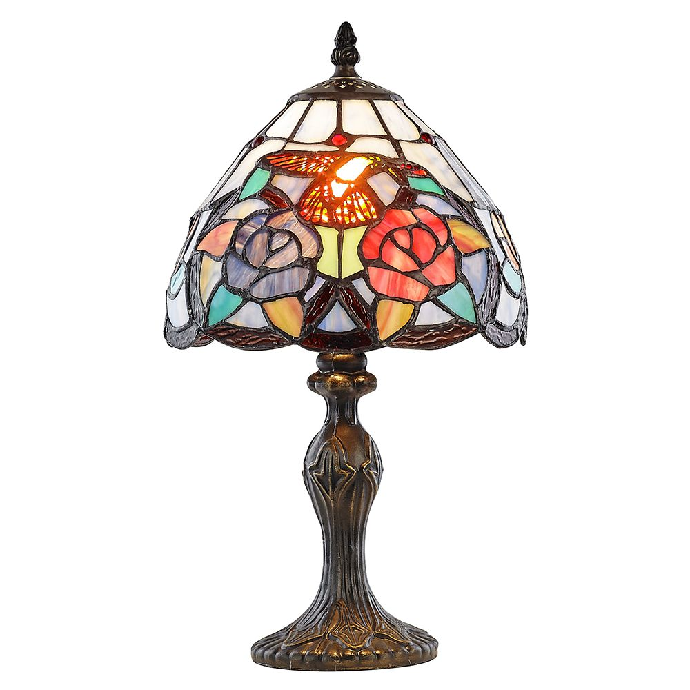 Humming Bird Tiffany Lamp With Colourful Stained Glass