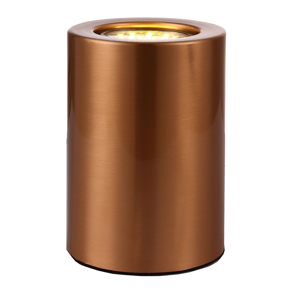Small And Contemporary Brushed Copper Led Table Floor Lamp