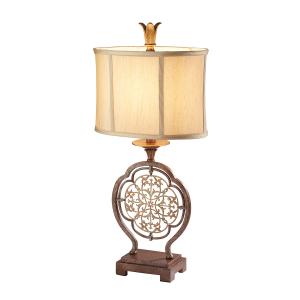 British Bronze/Oxidized Bronze 1lt Table Lamp - 1 x 60W E27