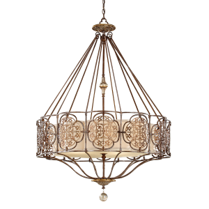 British Bronze/Oxidized Bronze 4lt Chandelier - 4 x 60W E27