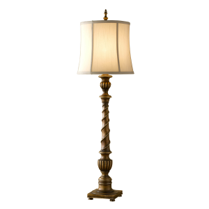 Silver Leaf Sienna 1lt Table Lamp - 1 x 60W E27