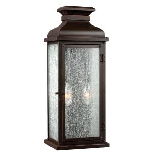 Dark Aged Copper Medium Wall Lantern - 2 x 60W E14