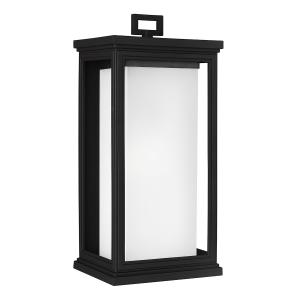 Textured Black Large Wall Lantern - 1 x 75W E27