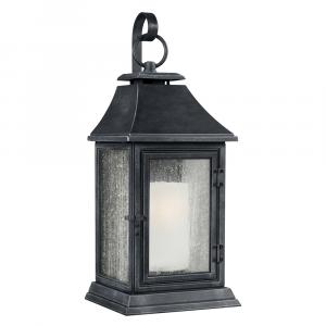 Dark Weathered Zinc Extra Large Wall Lantern - 1 x 75W E27
