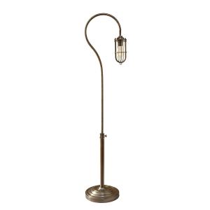 Dark Antique Brass 1lt Floor Lamp - 1 x 60W E27