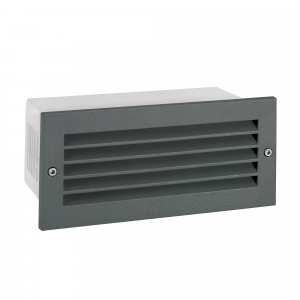 Graphite LED Recessed Wall Fitting - 8.7W LED