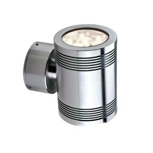 Anodised Aluminium Led Up/Down Wall Light - 12 x 1W LED