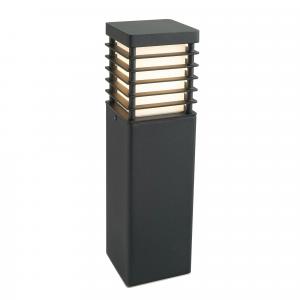 Black Medium Bollard E27 - 1 x 60W E27