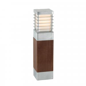 Galvanised Medium Wooden Bollard E27 - 1 x 60W E27