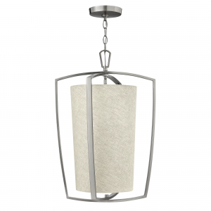 Brushed Nickel Large Pendant - 3 x 60W E14