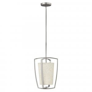 Brushed Nickel Pendant - 1 x 100W E27