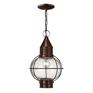 Sienna Bronze Capecod 1lt Chain Lantern - 1 x 100W E27