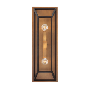 Bronze 2lt Wall Light - 2 x 60W E14