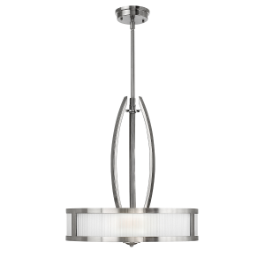 Brushed Nickel Merdian 3lt Pendant - 3 x 100W E27