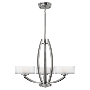 Brushed Nickel Merdian 3lt Chandelier - 3 x 60W