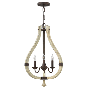 Iron Rust 3lt Chandelier - 3 x 60W E14