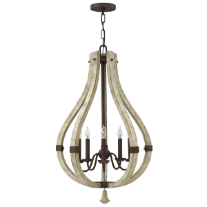 Iron Rust 5lt Chandelier - 5 x 60W E14
