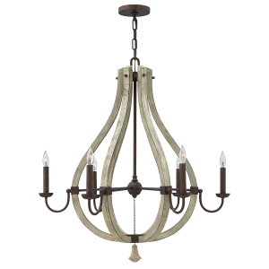 Iron Rust 6lt Chandelier - 6 x 60W E14
