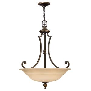 Olde Bronze 3lt Chandelier - 3 x 60W E27