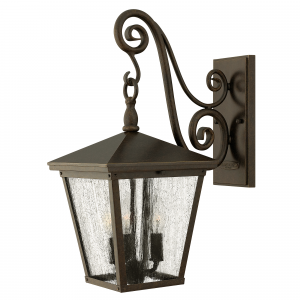 Regency Bronze Medium Wall Lantern - 3 x 60W E14