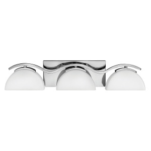 Polished Chrome 3lt Bathroom Wall Light - 3 x 3.5W LED G9