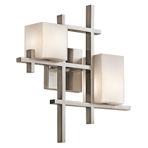 Classic Pewter 2lt Wall Light - 2 x 3.5W LED G9, 320Lm, 3000k