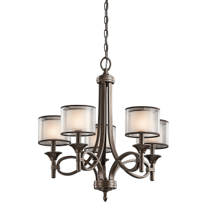 Mission Bronze 5lt Chandelier - 5 x 60W E14