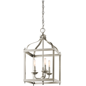 Brushed Nickel Medium Pendant - 3 x 60W E14