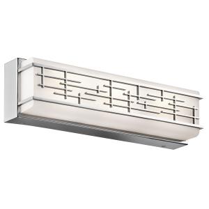 Chrome Medium Linear Bath LED fitting - 21W LED (Lumens: 1800) Colour Temp: 3000k