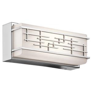 Chrome Small Linear Bath LED fitting - 14W LED (Lumens: 1200) Colour Temp: 3000k