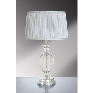 Antonia Clear Crystal Temple Jar Table Lamp - 60W/20W LE E27