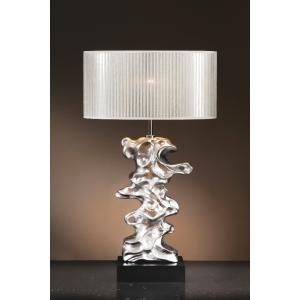 Libero Silver Table Lamp - 60W/20W LE E27