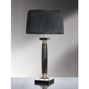Simona Nero Black Crystal Table Lamp - 60W/20W LE E27