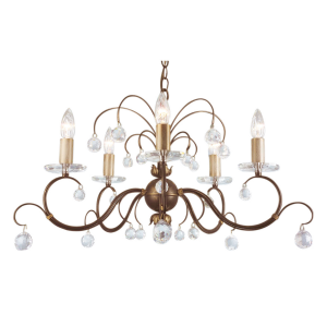 Bronze Patina 5lt Chandelier Bronze - 5 x 60W E14