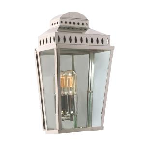 Polished Nickel Wall Lantern - 1 x 100W E27