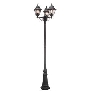 Black Lamp Post - 3 x 100W E27