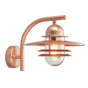 Copper Wall Lantern  Clear - 1 x 75W E27