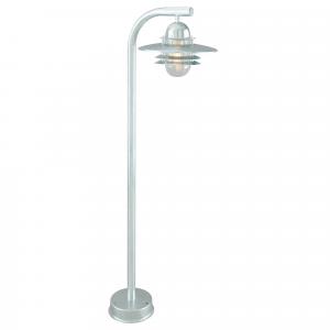 Galvanised Pillar Lantern  Clear - 1 x 75W E27
