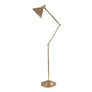 Aged Brass 1lt Floor Lamp - 1 x 100W E27