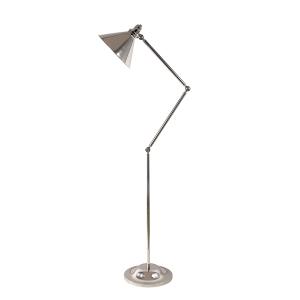 Polished Nickel 1lt Floor Lamp - 1 x 100W E27