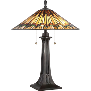 Valiant Bronze Table Lamp - 2 x 60W E27