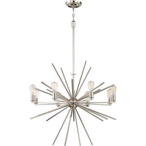 Imperial Silver 8lt Chandelier - 8 x 60W E27