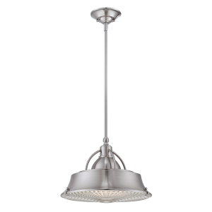 Brushed Nickel 2lt Pendant - 2 x 60W E27