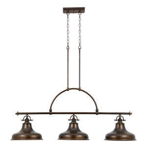 Palladian Bronze 3lt Island Light - 3 x 100W E27