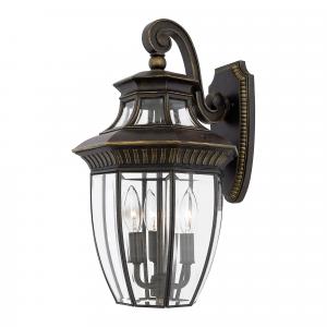 Imperial Bronze Medium Wall Lantern - 3 x 60W E14