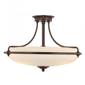 Palladian Bronze Semi-Flush Light - 4 x 100W E27